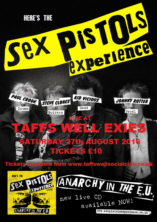 SEX PISTOLS EXPERIENCE-TAFFS WELL EXIES-27/08/2016